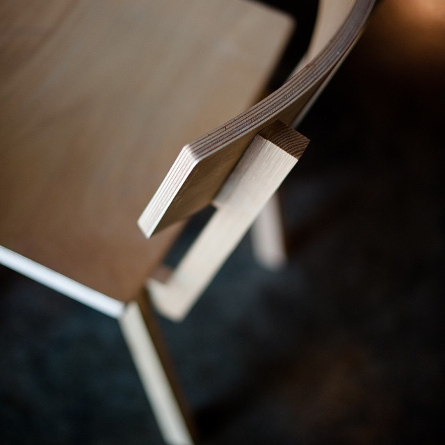 The Winslow chair, bent plywood through a manual process