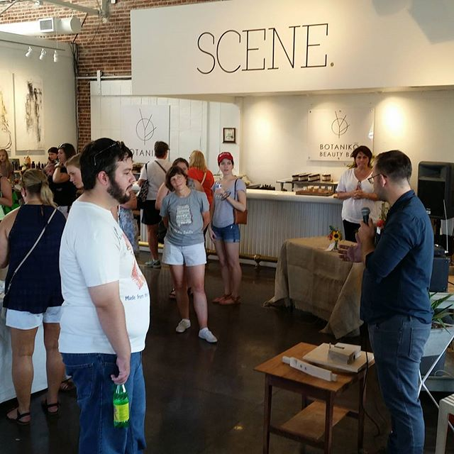 Jared in action discussing process at the makers market @pepperplacemarket