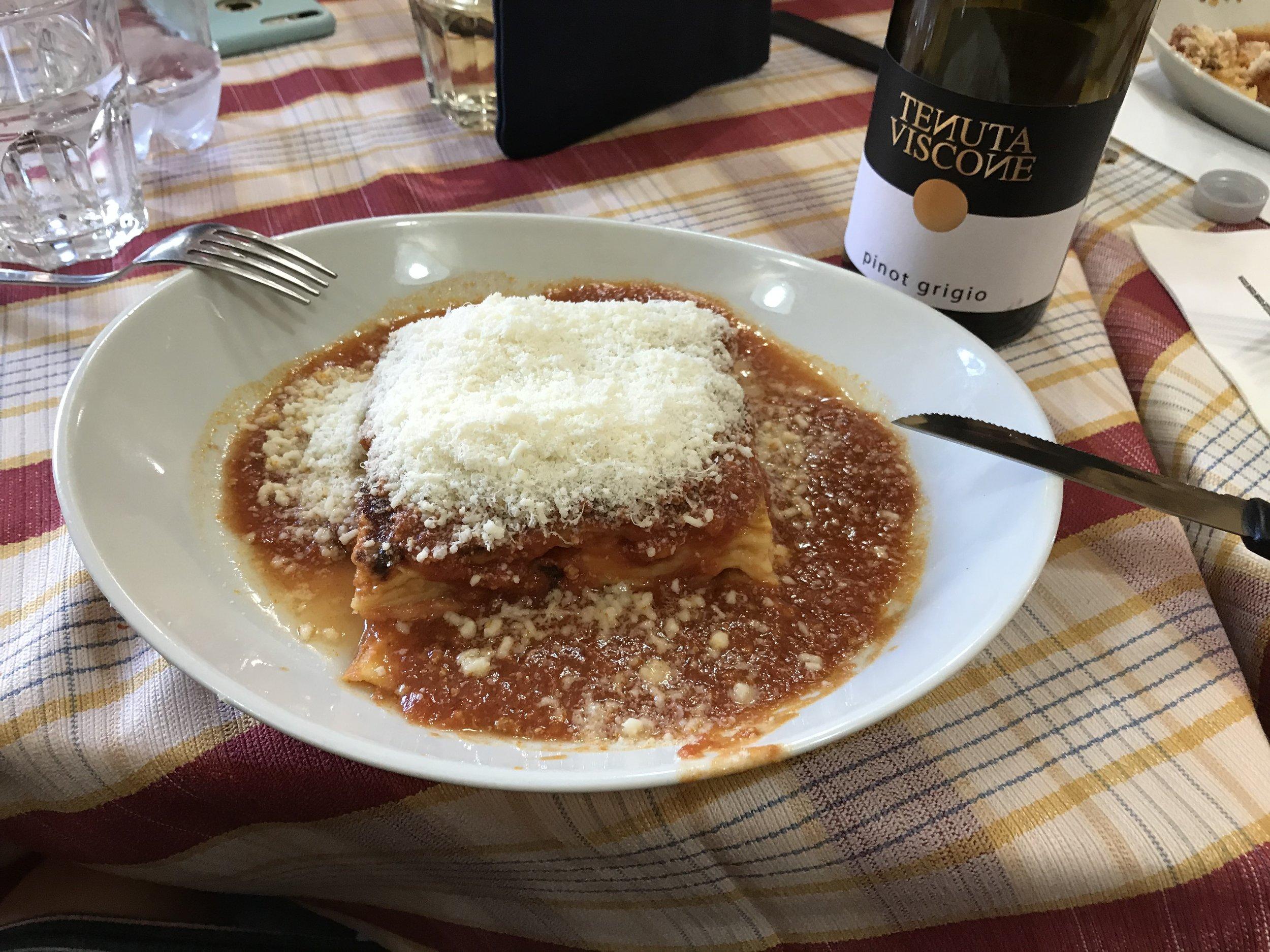 Rome - Meat Lasagna and Tiramisu
