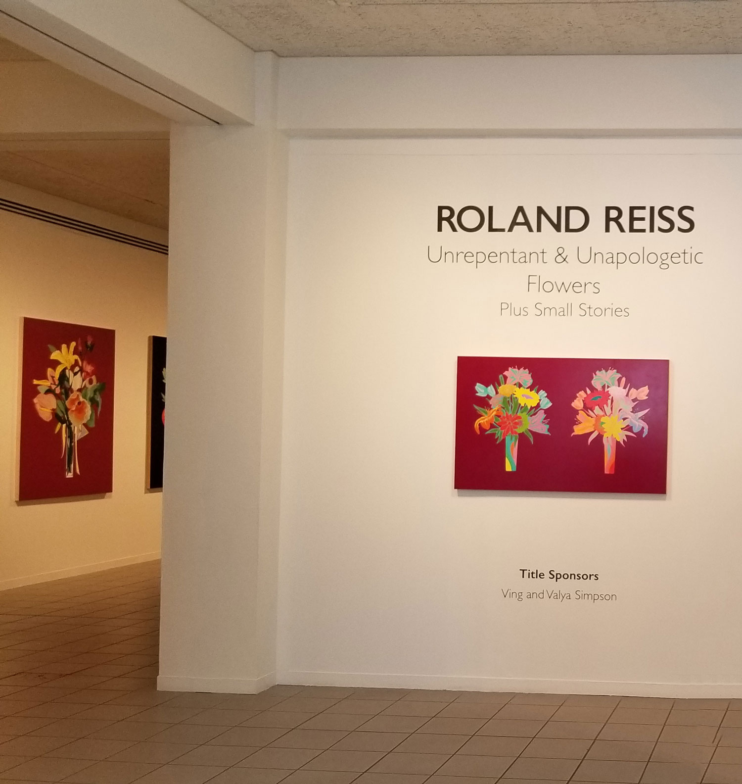 Roland Reiss at the Oceanside Museum of Art