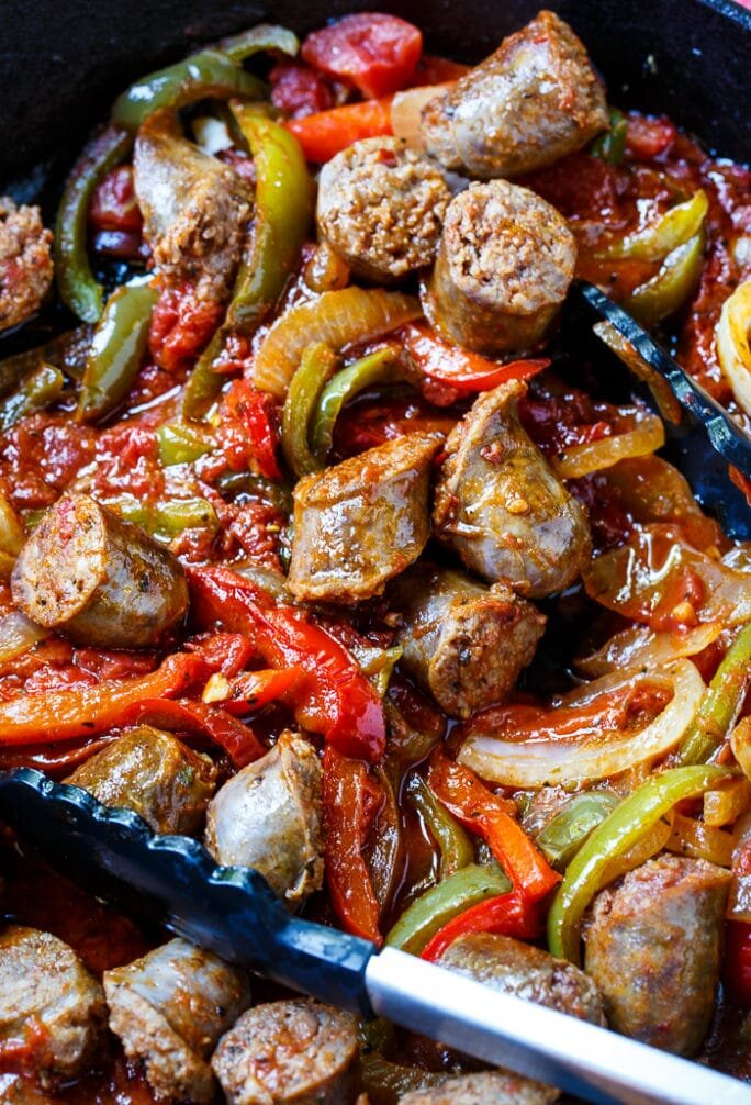 Sausage & Peppers on the Grill