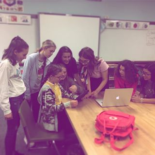 Students at Lewis and Clark Middle School engaged in making a music video!