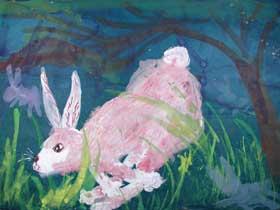 Figure 3. Sixth grade - White Rabbit by Liao ZheYi
