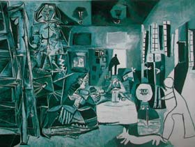 Figure 2. Pablo Picasso (1881 - 1973) Maids of Honor, 1957      Oil on Canvas, 194 x 260 cm    Picasso Art Museum, Barcelona