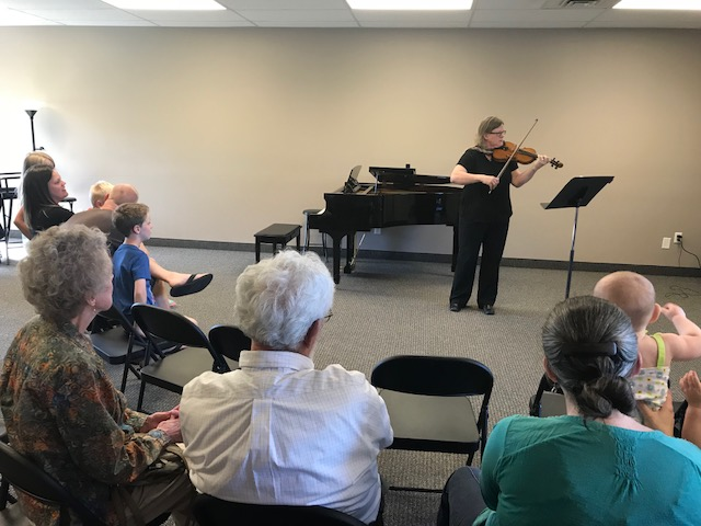 The Listening Room Open House, May 26, 2018 Violinist Heather Hull Hart