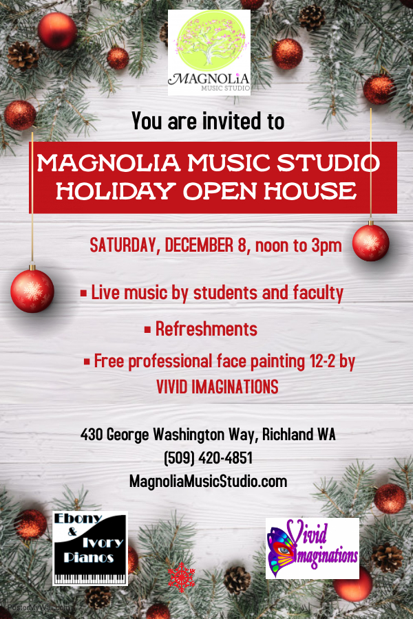 Magnolia Music Studio Holiday Open House, December 8, 2018