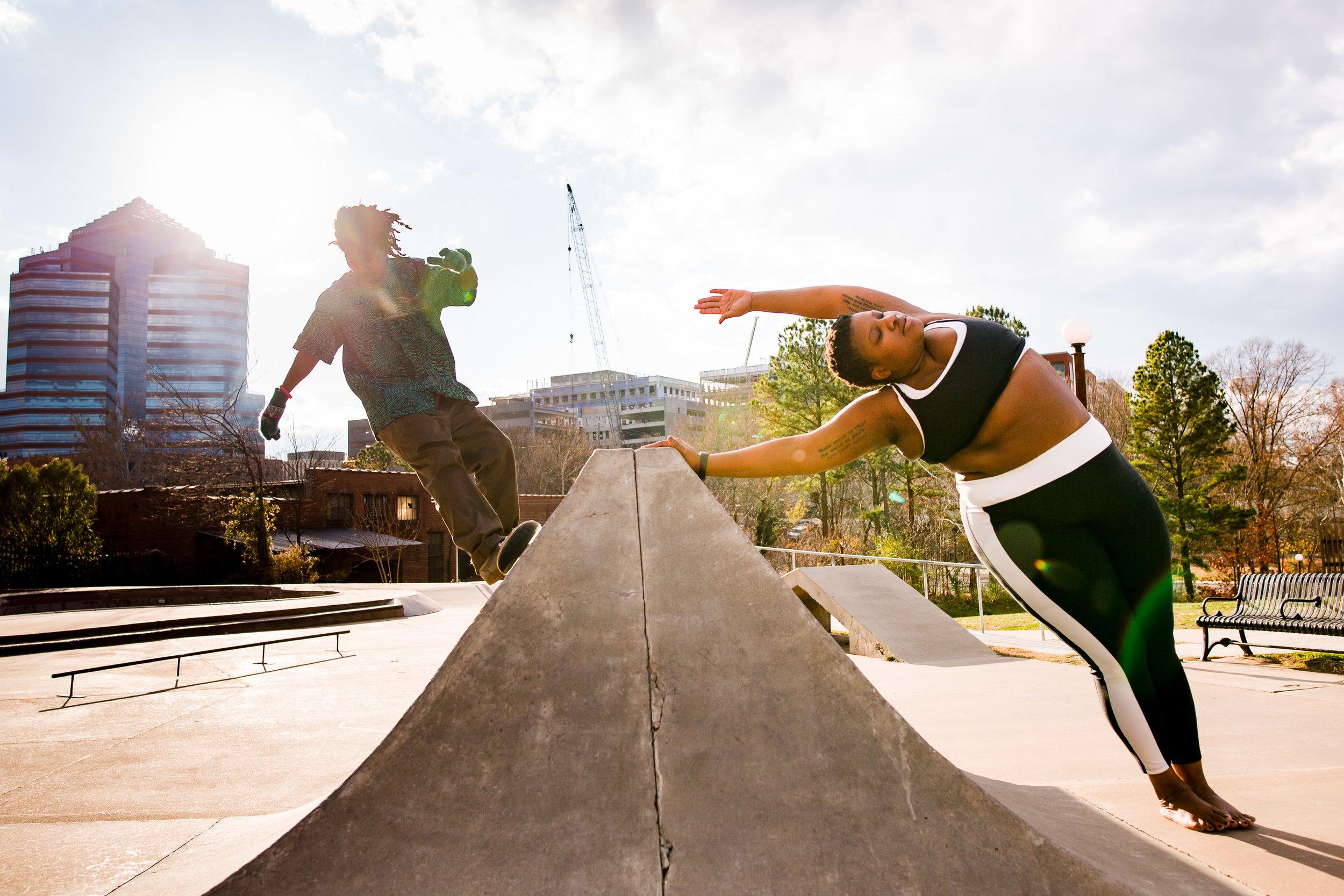 Jessamyn Stanley at the Skate Park
