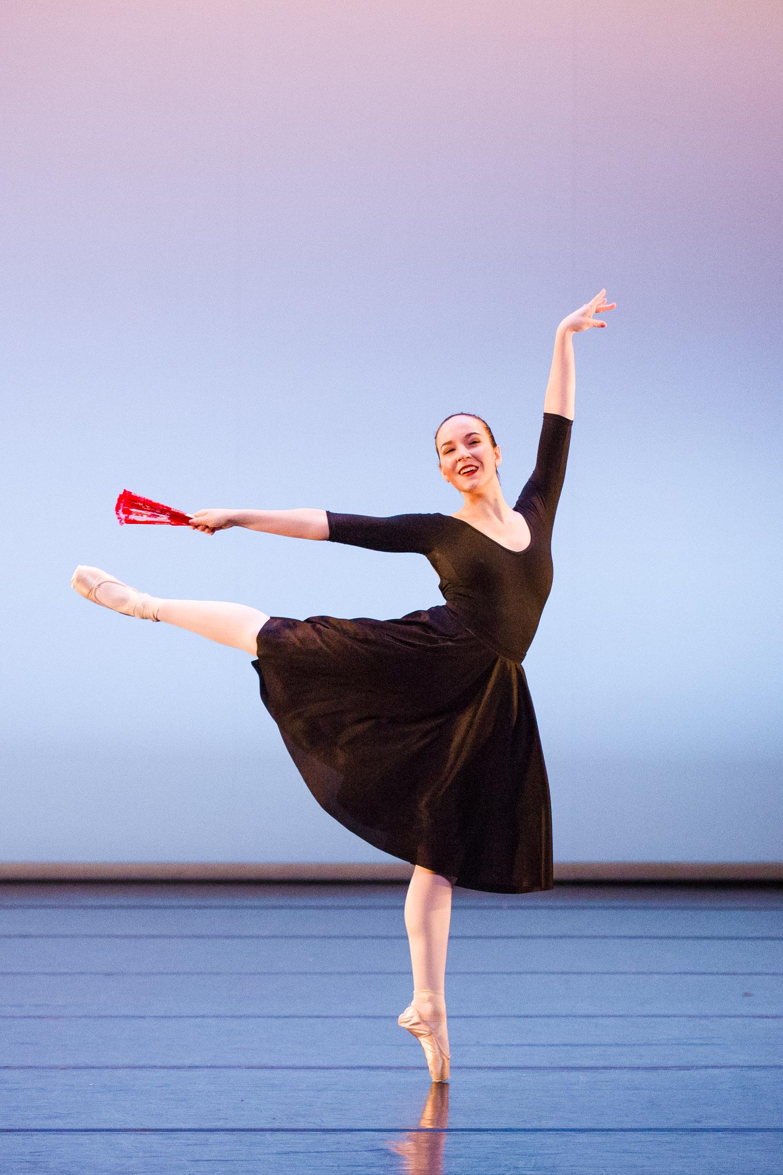 Ballet dancer en pointe