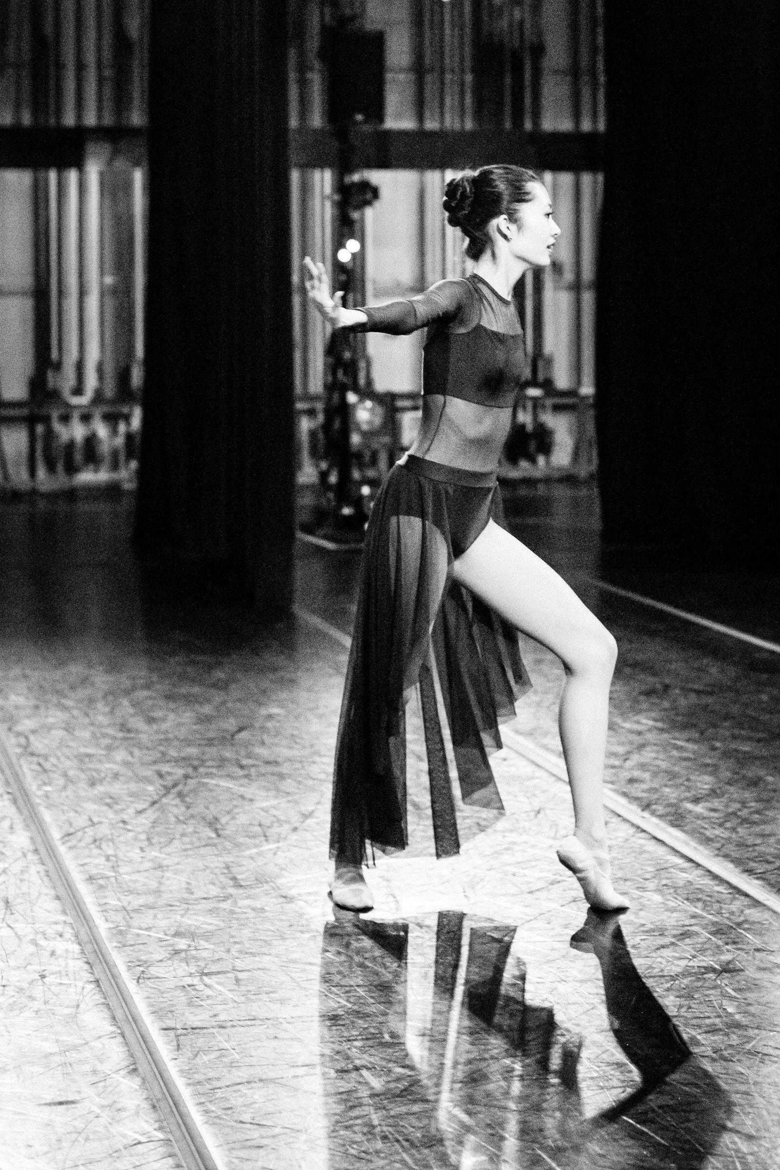 Dancer backstage