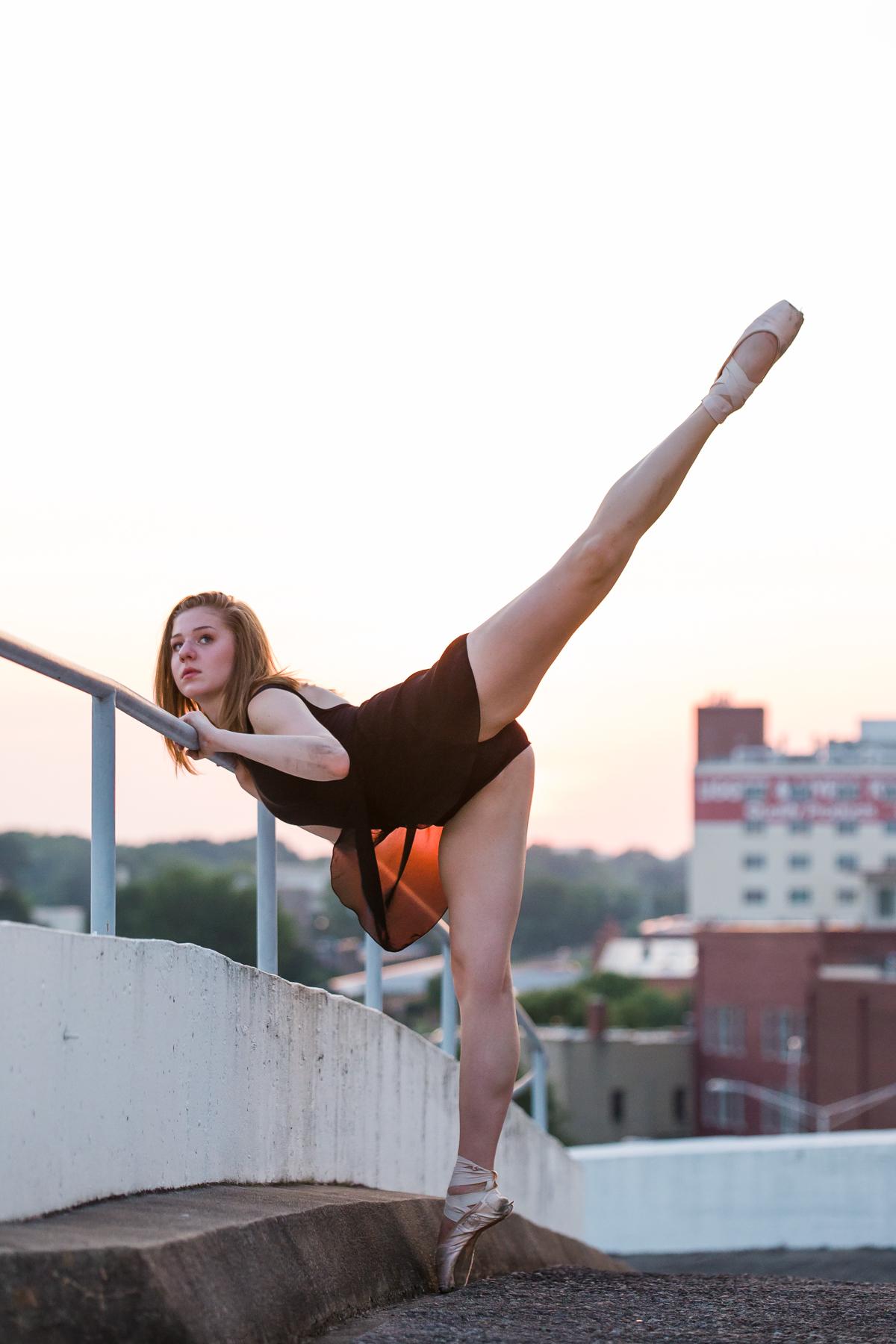 Ballet portrait at sunset.