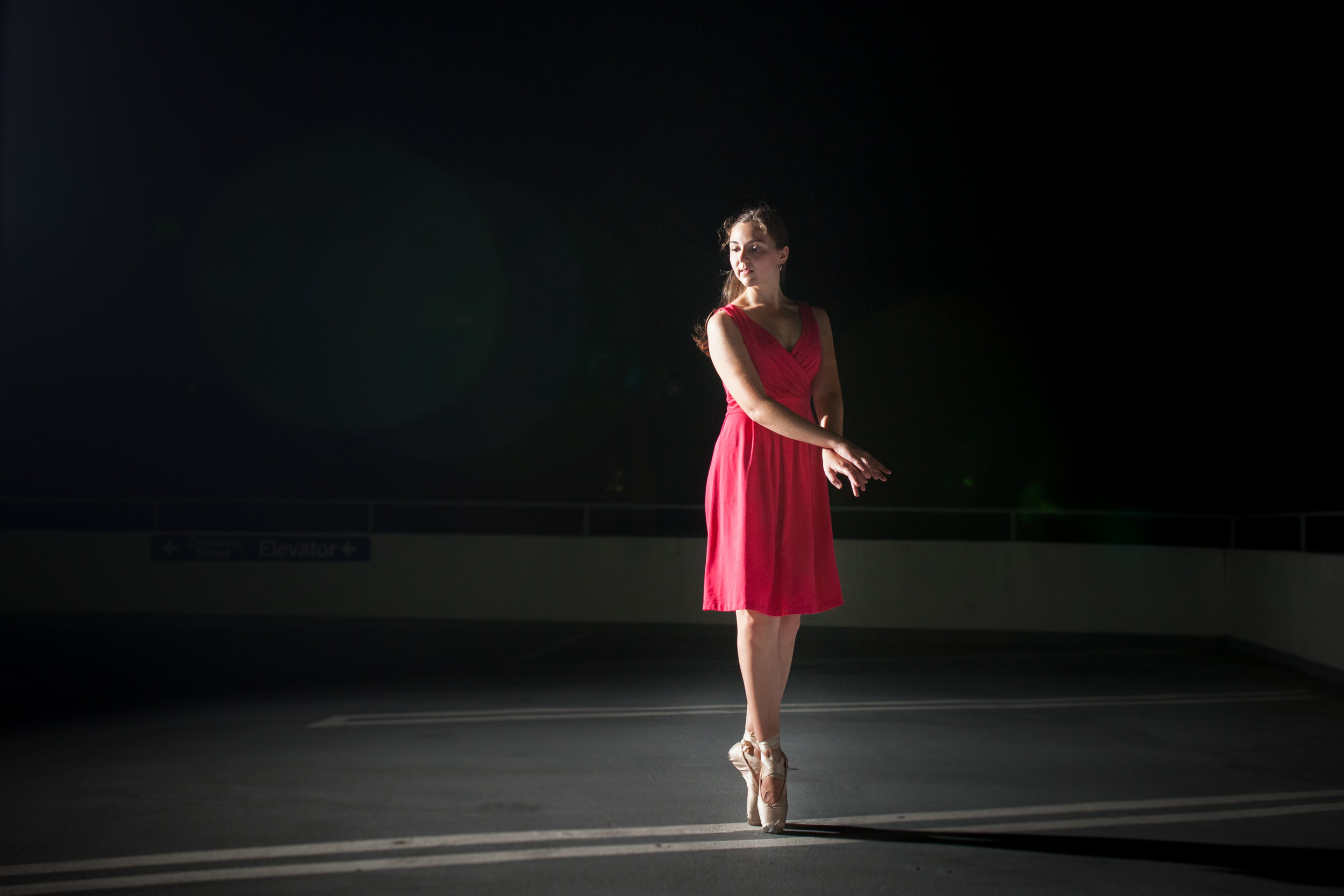 Anne Talkington - Click for a blog post featuring the beautiful Anne Talkington dancing on the Corcoran Parking Deck!