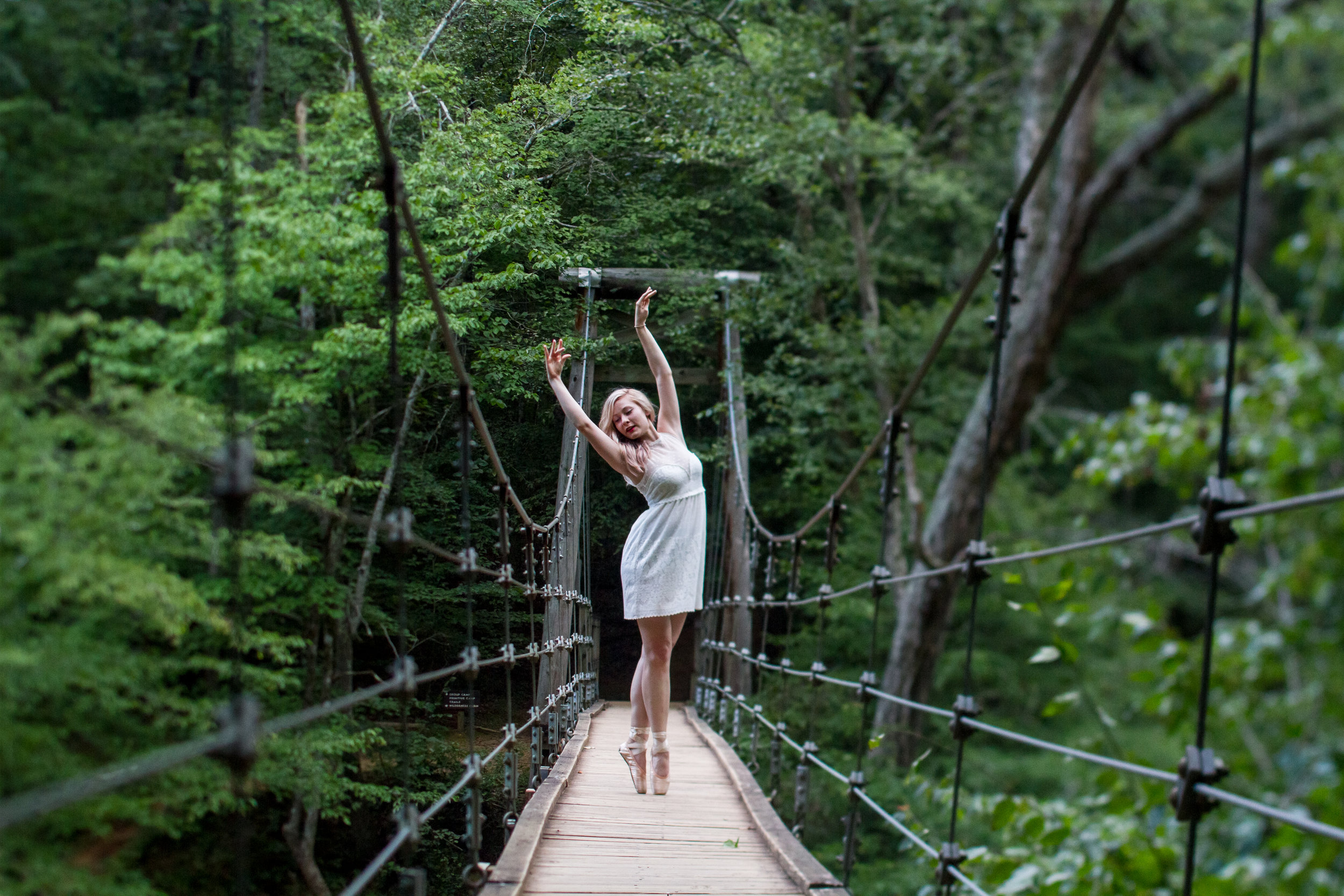 Adrienne Hoarfrost - Click to view the shots from Adrienne's Eno River Swing bridge shoot!