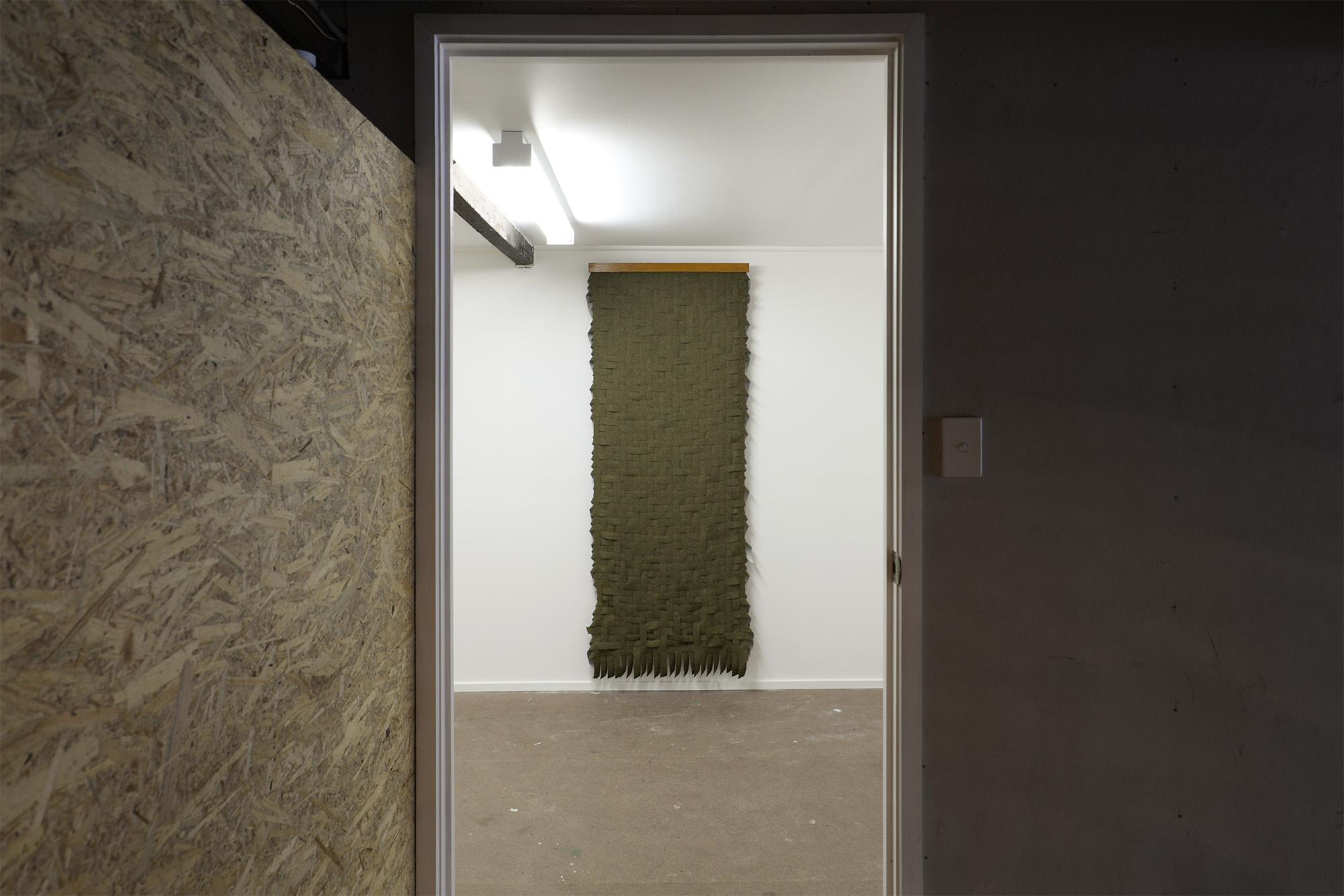 Linen Weave (Green) 2018 linen weave 190cm x 95cm