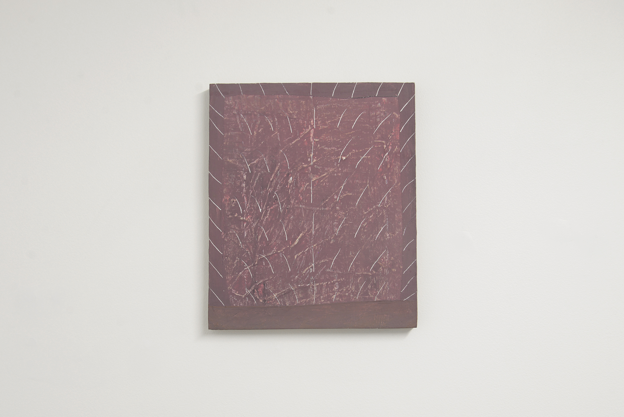 Loki Groves  En Exp 52 A damage and juncture  2017 acrylic on particle board