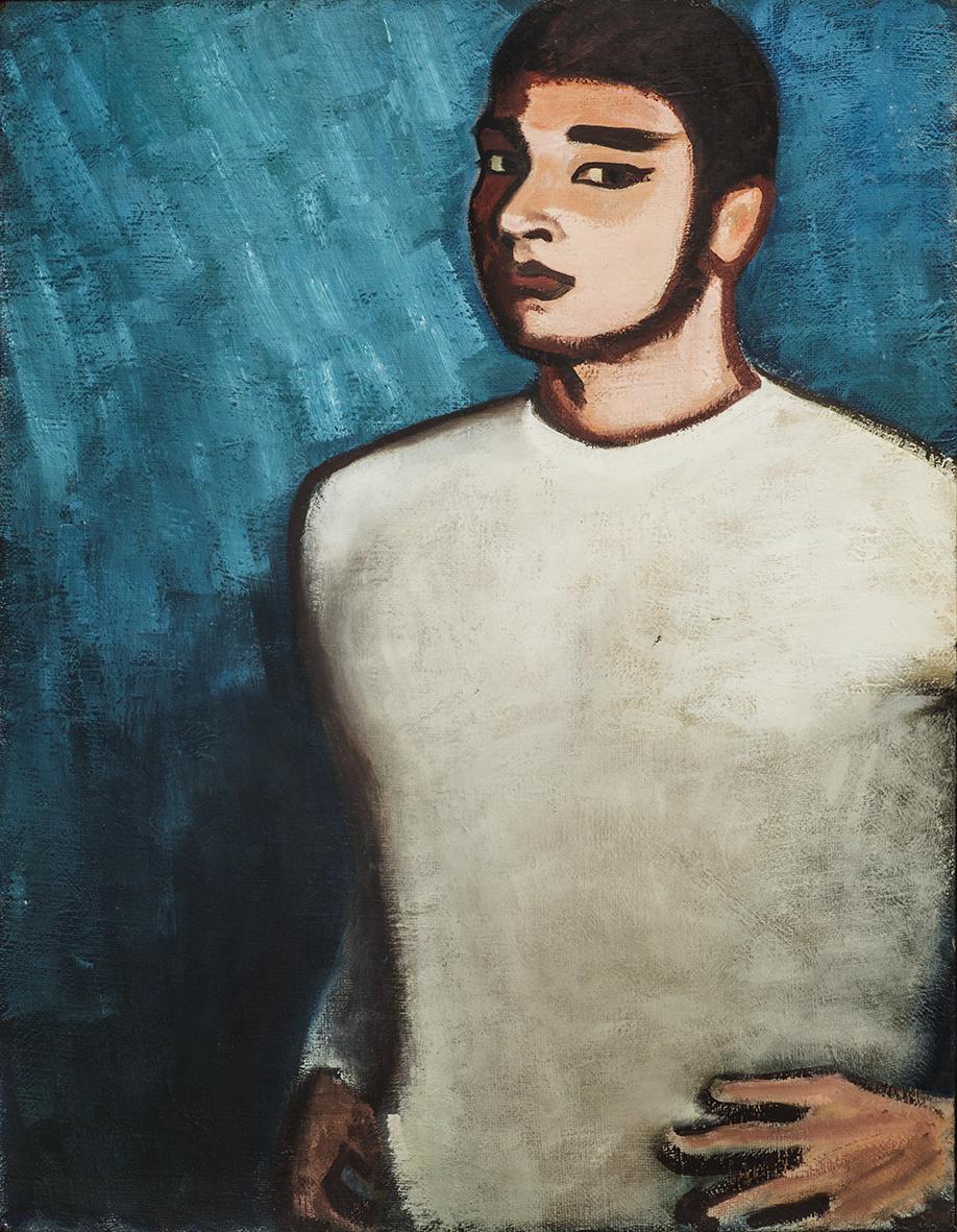 杨雨澍   《我》,1976年  97X75cm 布面油画