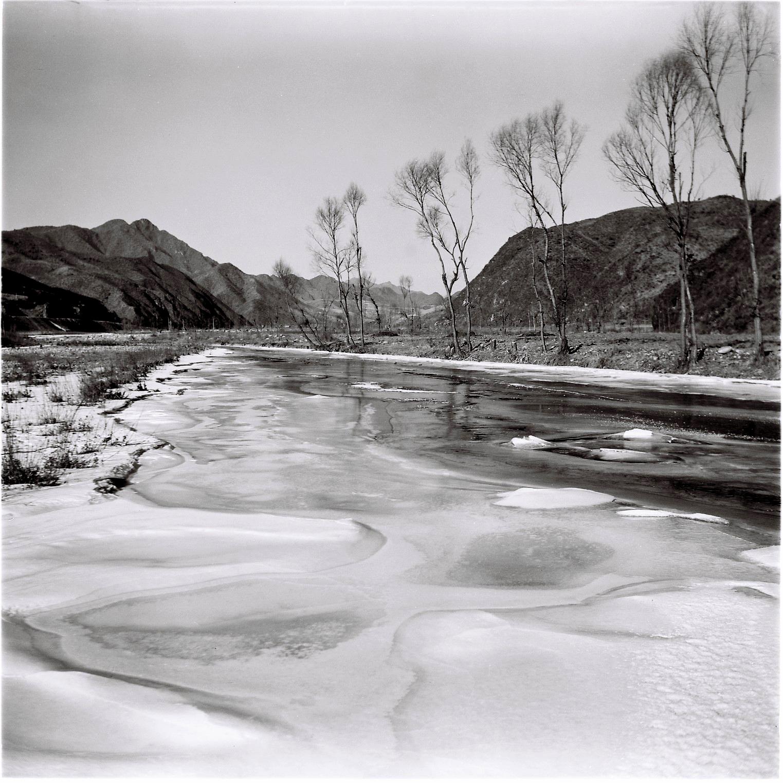 Ren Shulin, Labagou  in Huairou County Beiji  ng, January 1, 1979 .  Medium: Photography  Image courtesy of Ren Shulin