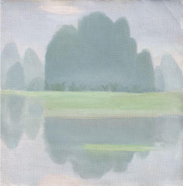 厐壔,桂林行之二,1980年,纸板油画,52×52厘米