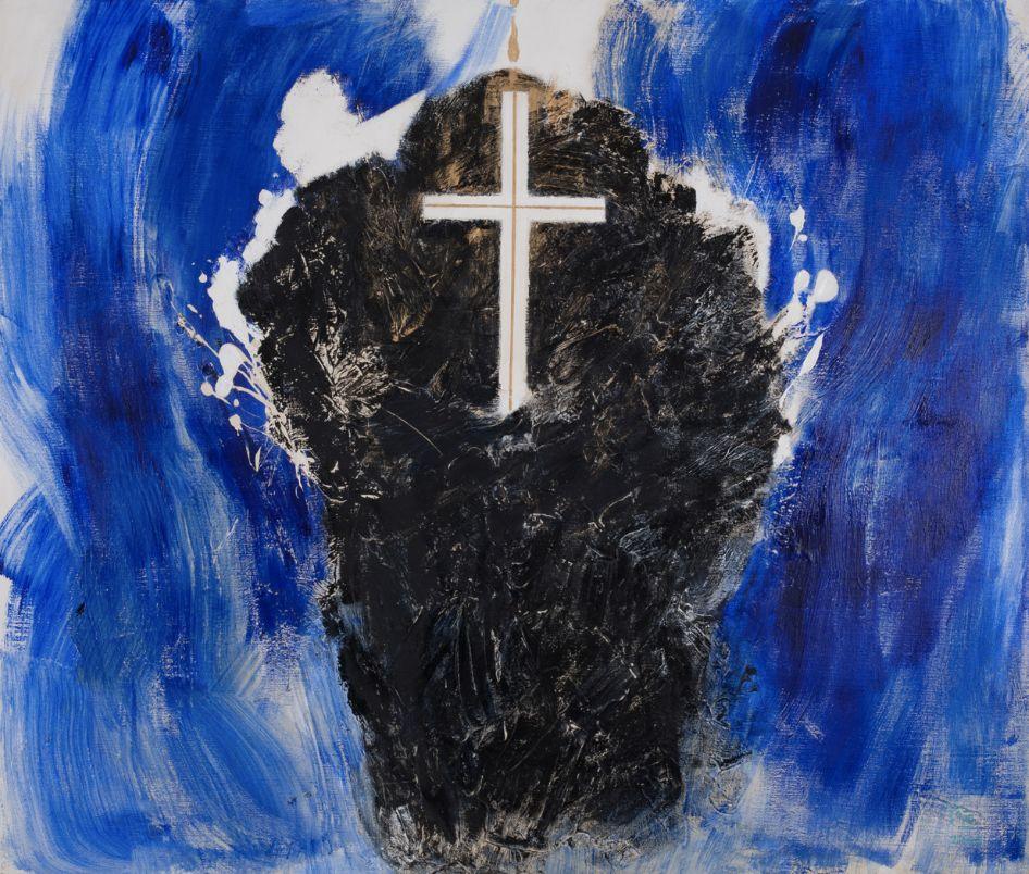厐壔,致哀于无辜的魂灵No.2,2004年,布面丙烯,170×200厘米