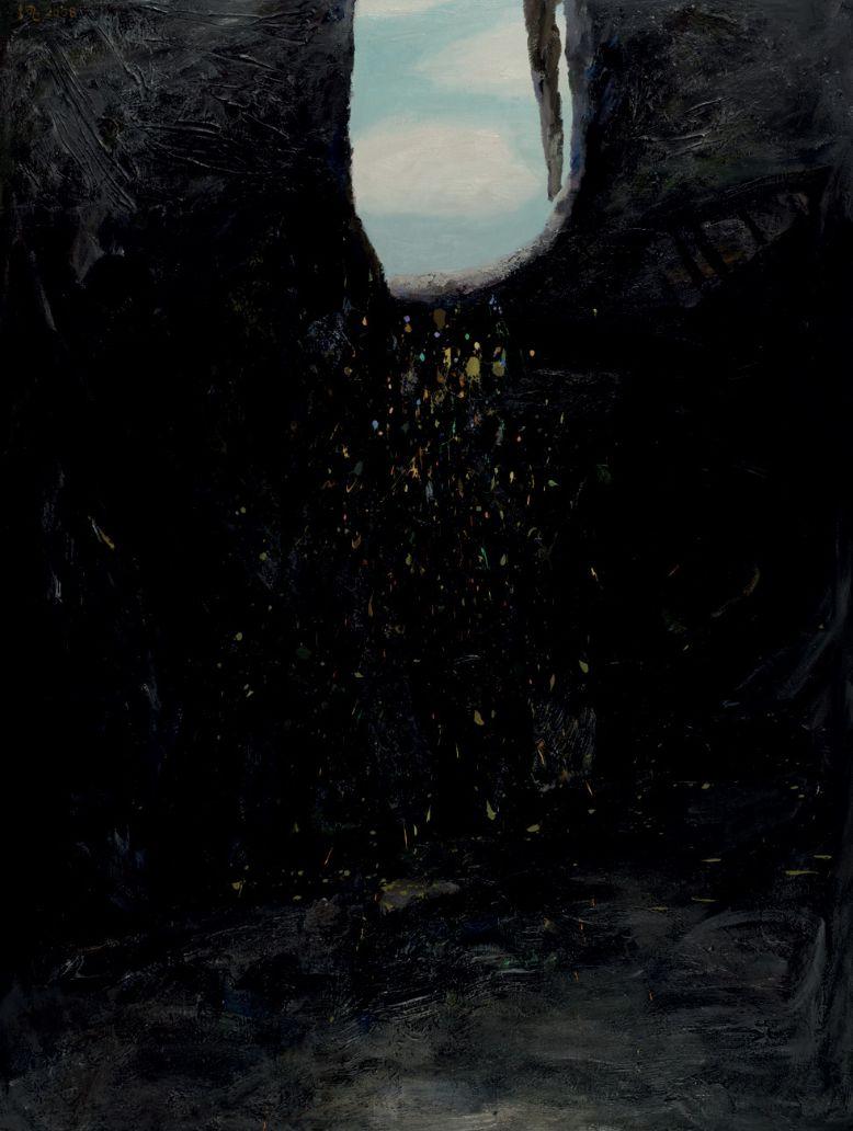 厐壔,希望之二,2008年,布面油画、丙烯,200×170厘米