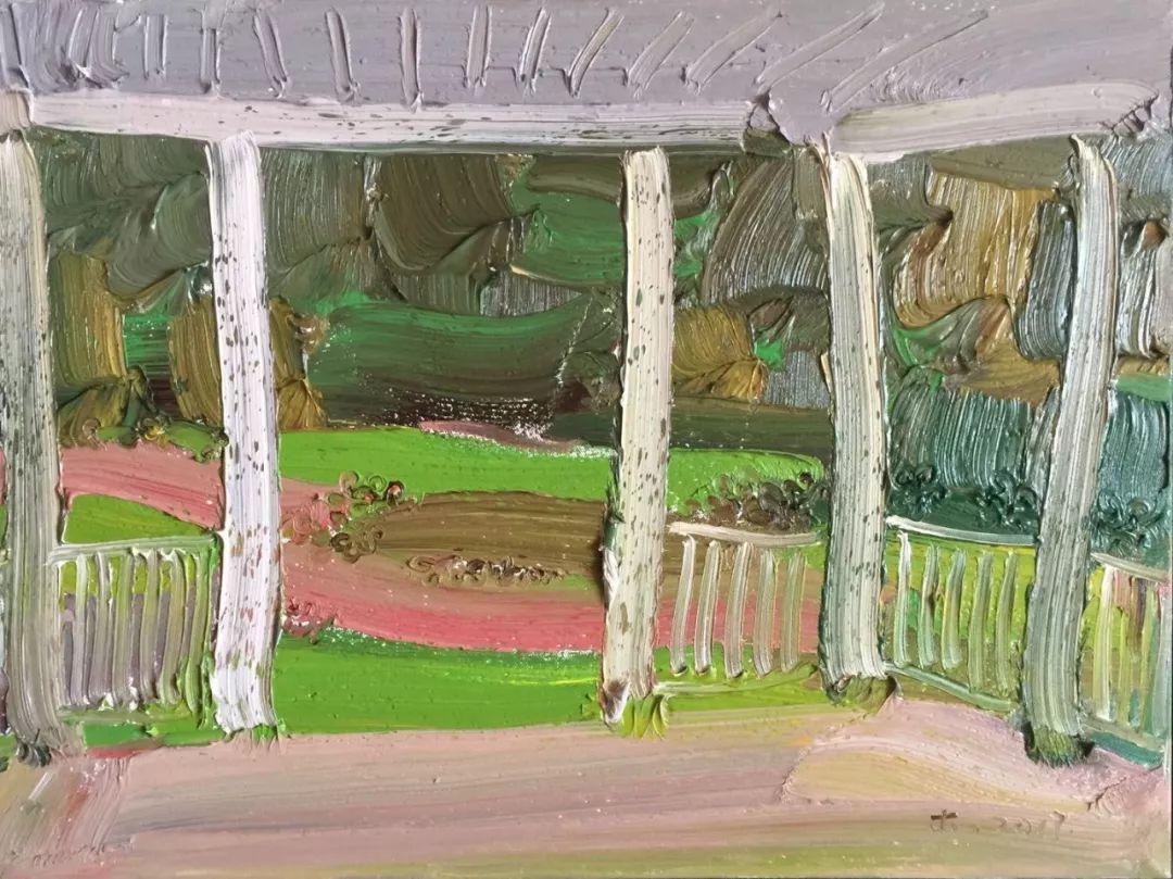 李睦,《珠帘》,油画,40×55cm,2017年