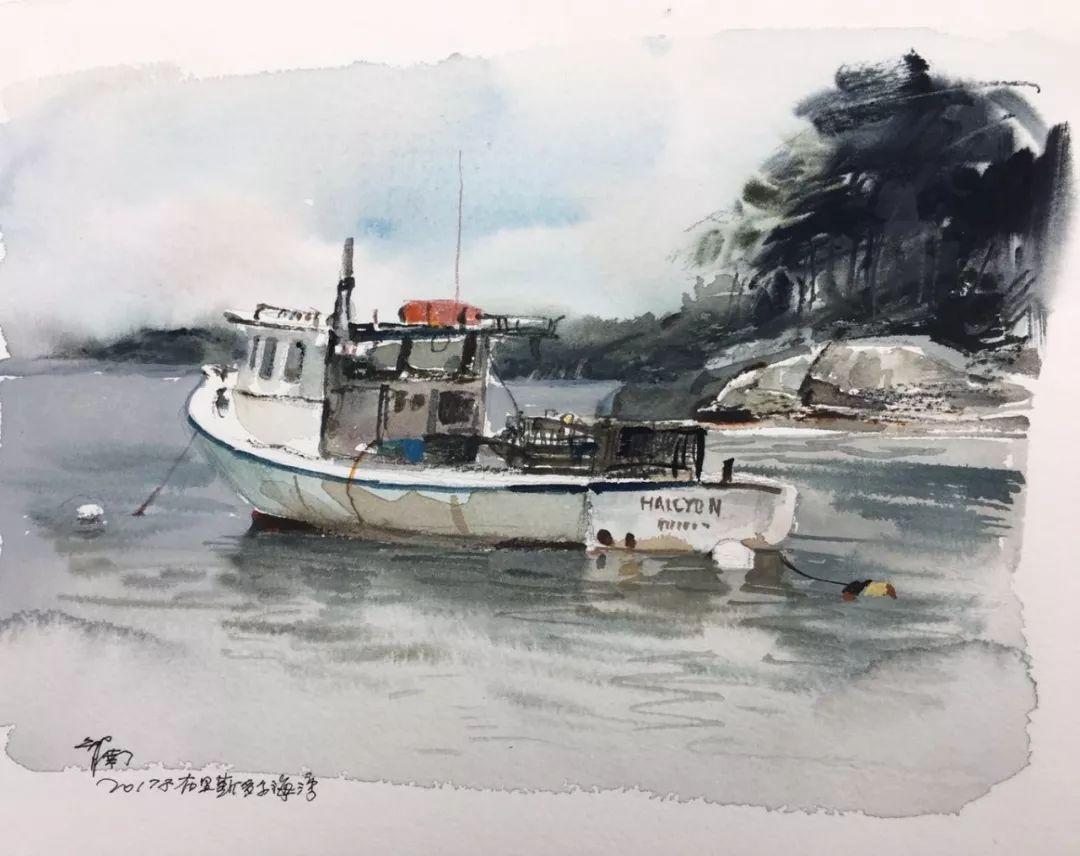 蒋智南,《布里斯托尔写生系列作品2》,水彩,38×28cm,2017年