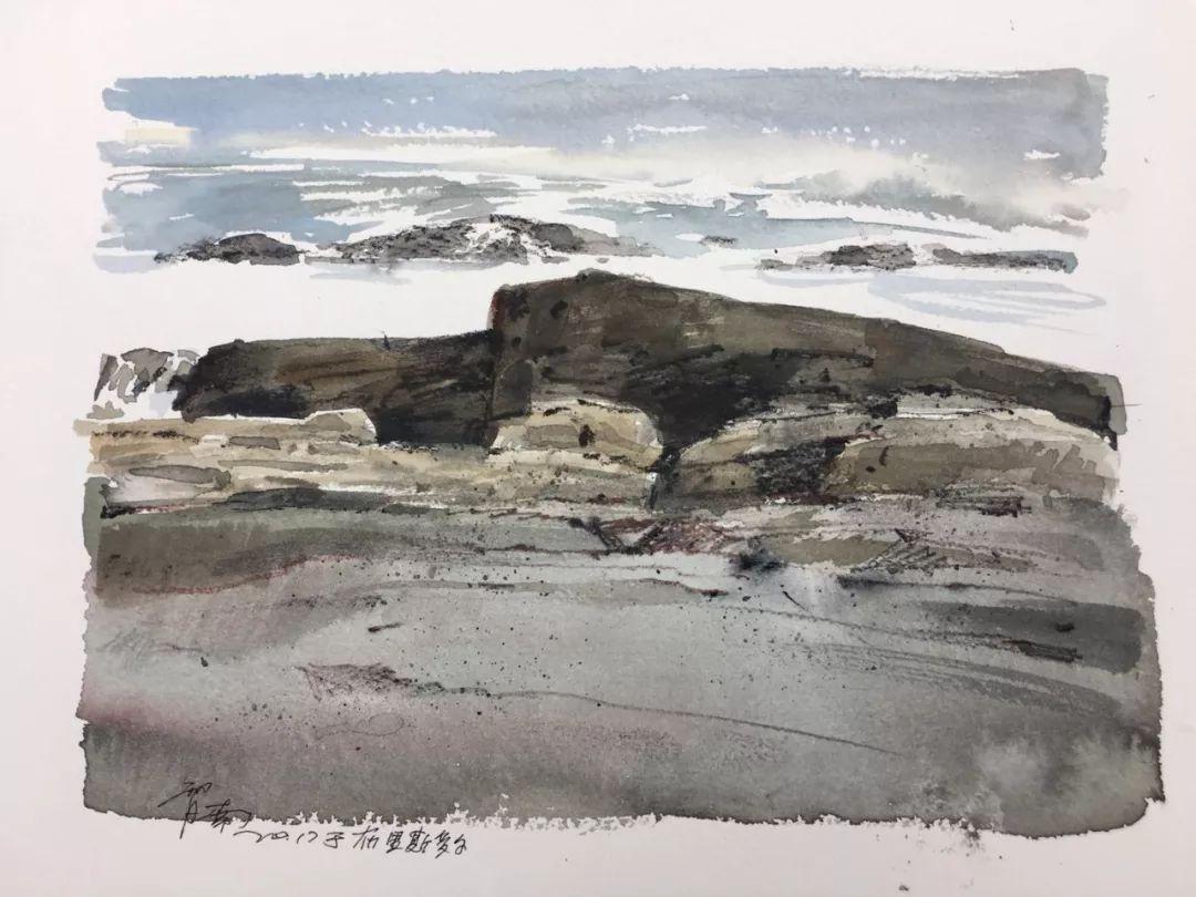 蒋智南,《布里斯托尔写生系列作品6》,水彩,38×28cm,2017年