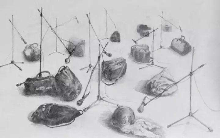 苏育贤,沙哟娜拉.再见,纸上绘画,37.5 X 26.0厘米,2017年