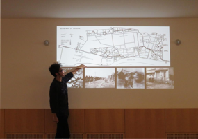 Rouzebeh和Eshrat在中间美术馆内部课堂的演讲