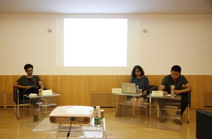 Rouzbeh和Eshrat在中间美术馆的公共演讲