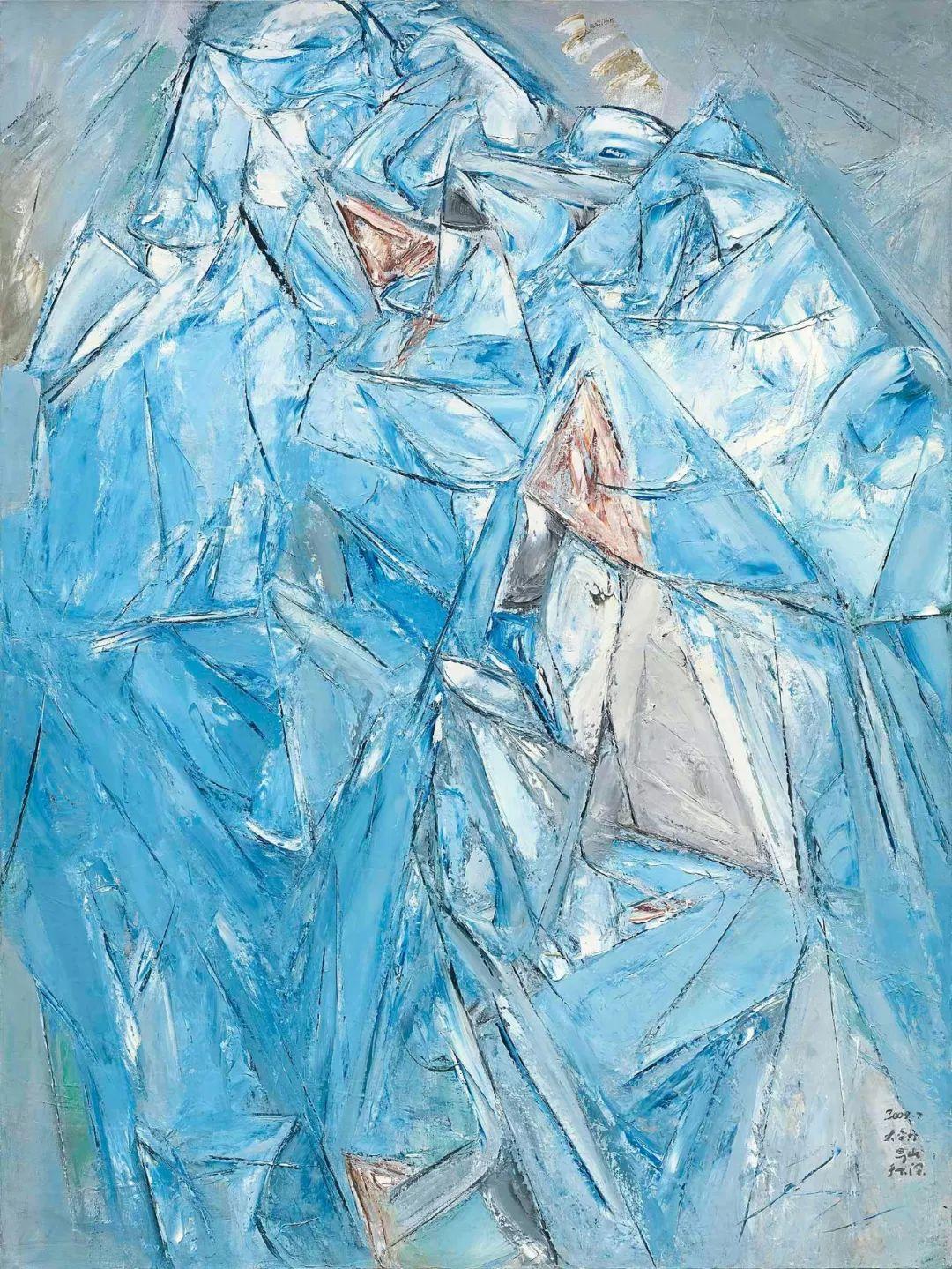 《神山》,布面油画,2009