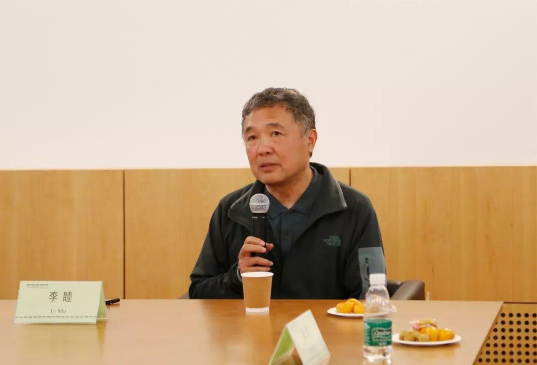 ▲ 本次展览策展人、清华大学美术学院李睦教授