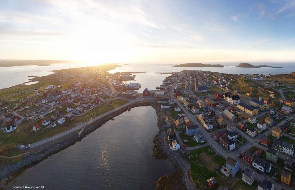 Vardø in the midnight sun.