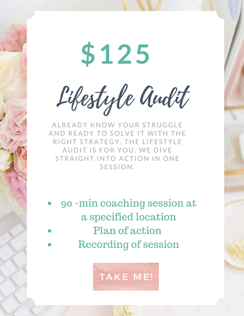 Work with me- Lifestyle Audit 125