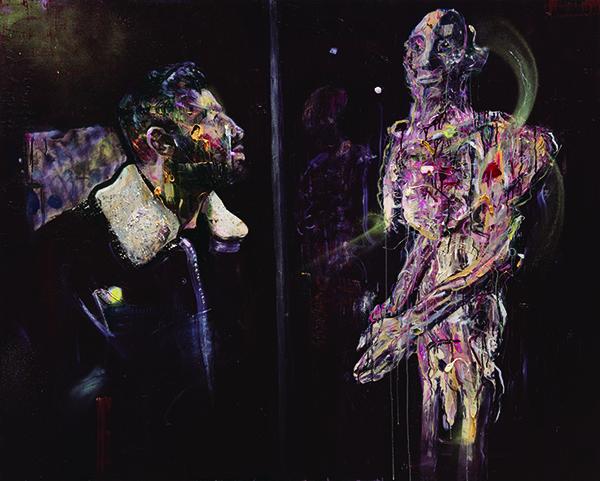 서원미 Meet the body003 Oil and spray on canvas, 130.3 x 162.jpg
