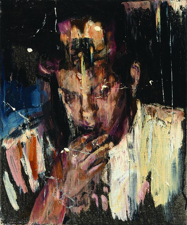 서원미 Polluted eyes 001 Oil on canvas in two parts, 45.5 x 75.jpg