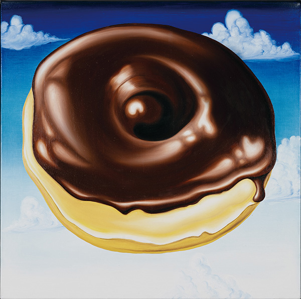 33. Chocolate Glazed N' Puffy Clouds, 2008 ⓒ Kenny Scharf 2018, Image courtesy the artist and Honor Fraser Gallery, Photo LOTTE Museum (Oil on linen, 101.5 x 101.5cm).jpg
