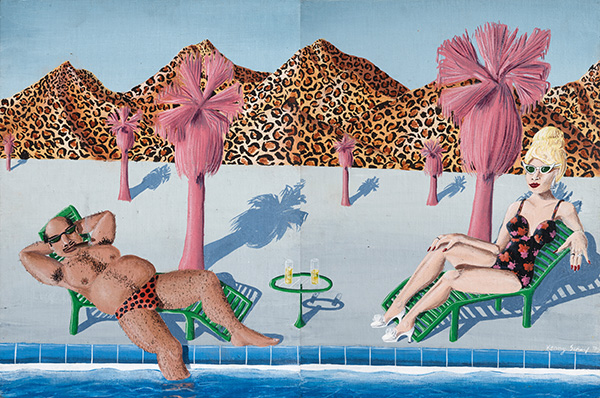 01. Palm Springs Vacation, 1978 ⓒ Kenny Scharf 2018, Image courtesy the artist and Honor Fraser Gallery, Photo Joshua WhiteJWPictures.com (Acrylic on canvas, 39.5 x 60cm).jpg