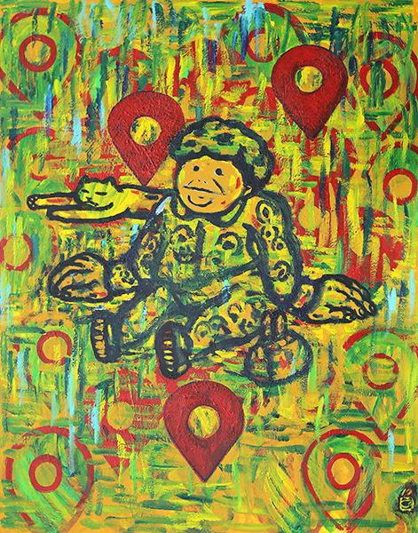 할머니, 117x90cm, Acrylic on canvas, 2017.jpg