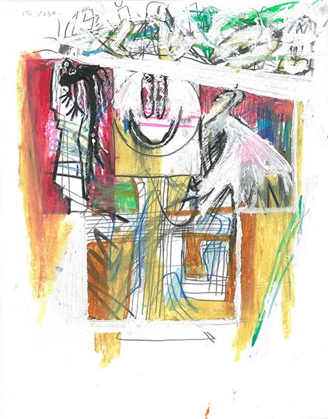 untitled(천사)_oil,oil pastel,pencil,color pencil on paper_27.9x35.6cm_2018 .jpg