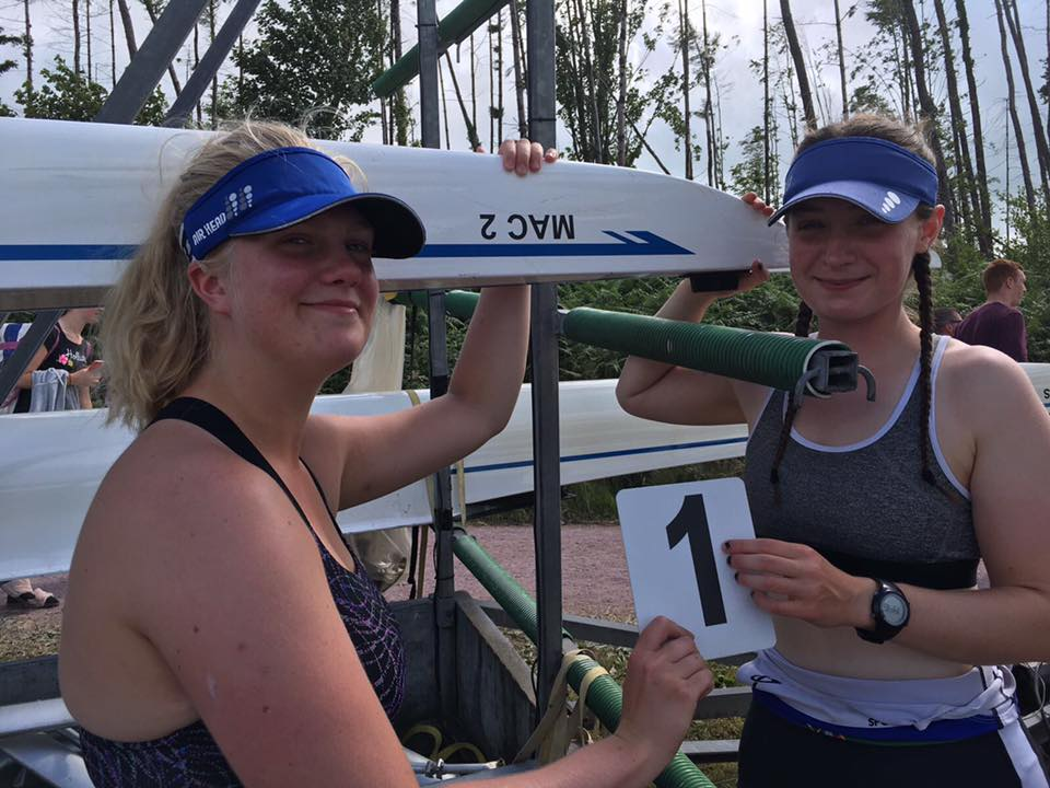 Queen's Rowing. QUBLBC. Emily Romeril and Rachel Cartin.