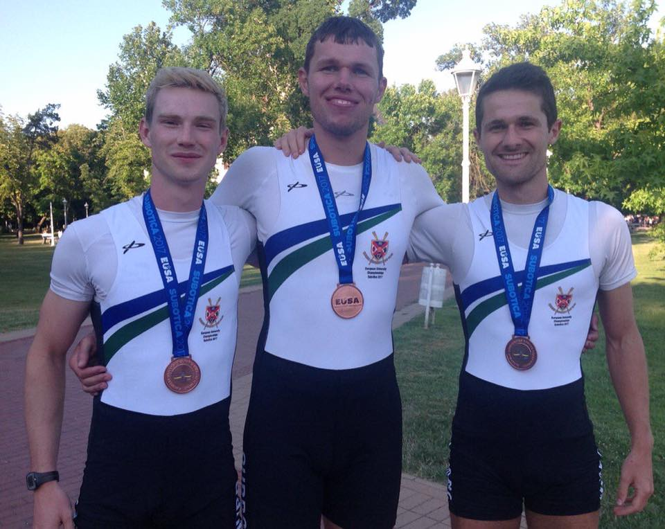 Queen's Rowing at EUSA -Miles Taylor, Sam Mckeown and Chris Beck