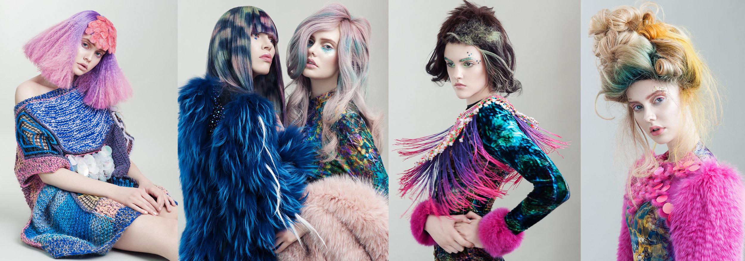 updo avant garde künstler hairinspiration mermaid hair unicorn hair pulp riot olaplex friseur wien danny lizzy gingerlemon dvt handcrafted hair fotograf bunte haare.jpg