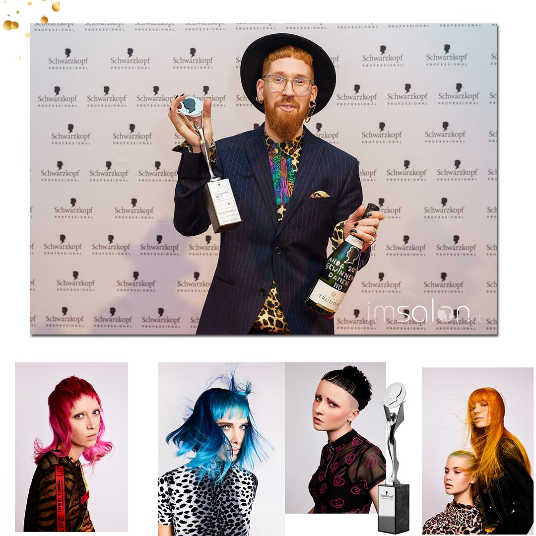 """- Danny holte sich den vielbegehrten Award als bester Damen Friseur in der Kategorie """"Damen Nord Ost"""" mit der SS 2019 Trendkollektion """"ÆON""""."""