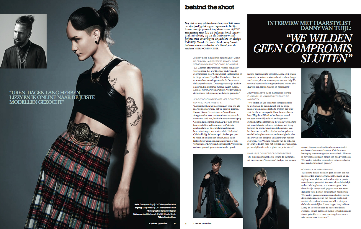 Coiffure Magazine Highland Warriors Dec16.jpg