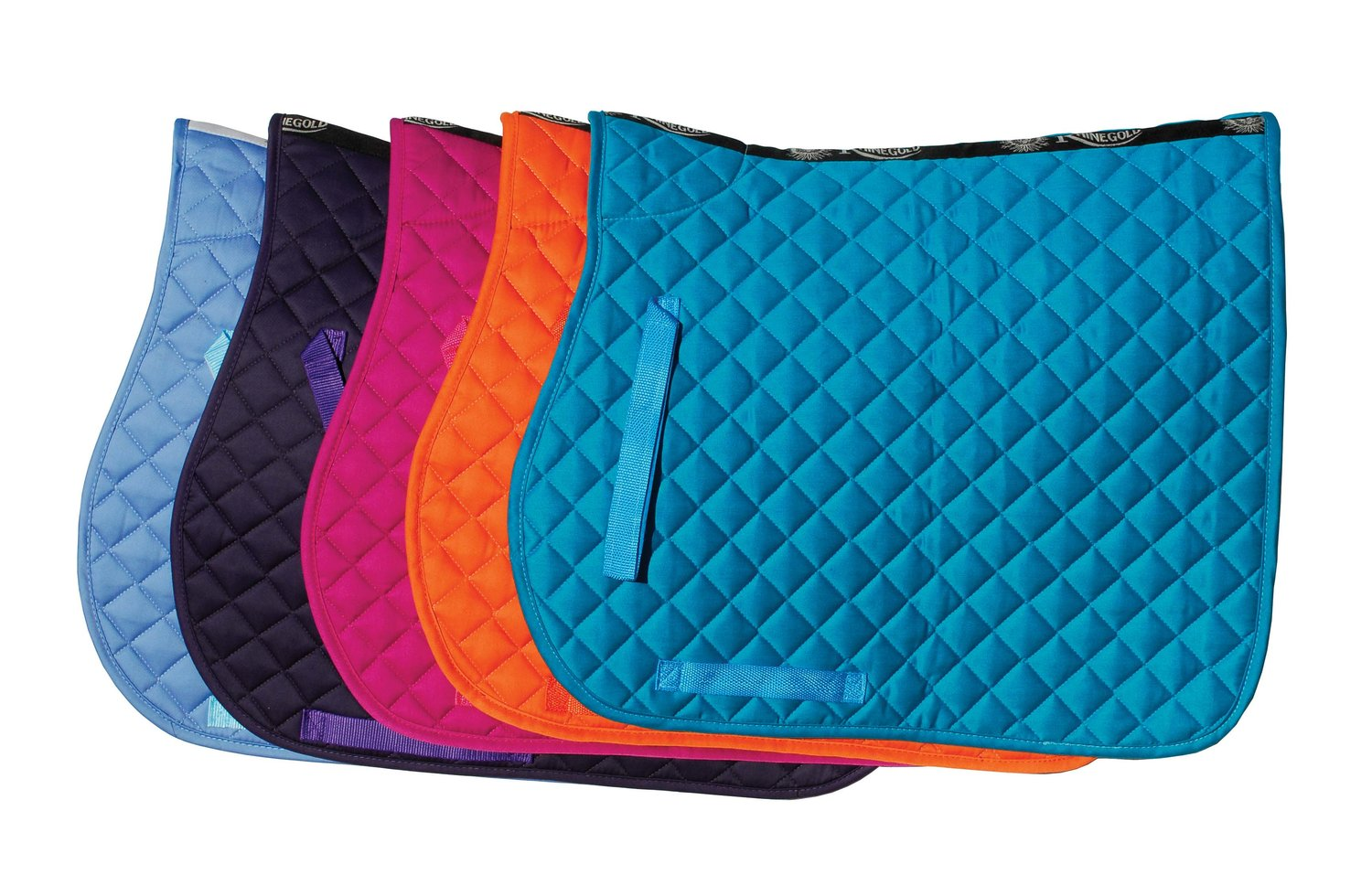 Cotton Quilted saddle cloth - £21.50 including 1 logo embroideryAvailable in Pony, Cob, FullAvailable in 11 colours