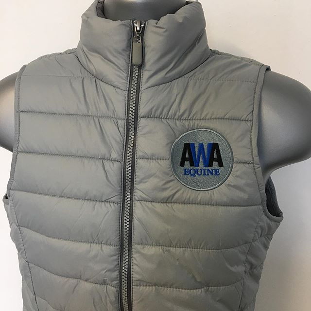 Our 'Wave' padded gilet embroidered for @amywestcottallen_sj of AWA Equjne 👍🏻♥️🦄