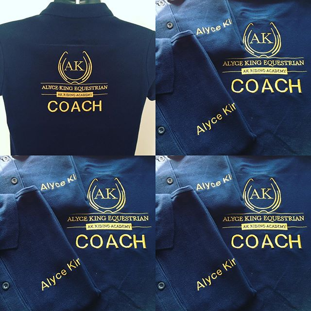 Embroidered polo shirts for @akridingacademy featuring Alyce's stunning new logo ♥️
