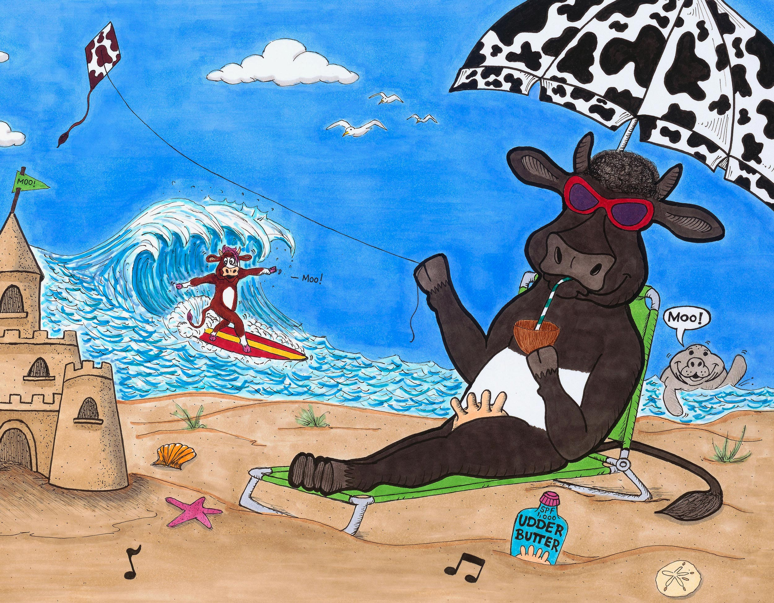 Surfs up! - Moooo!
