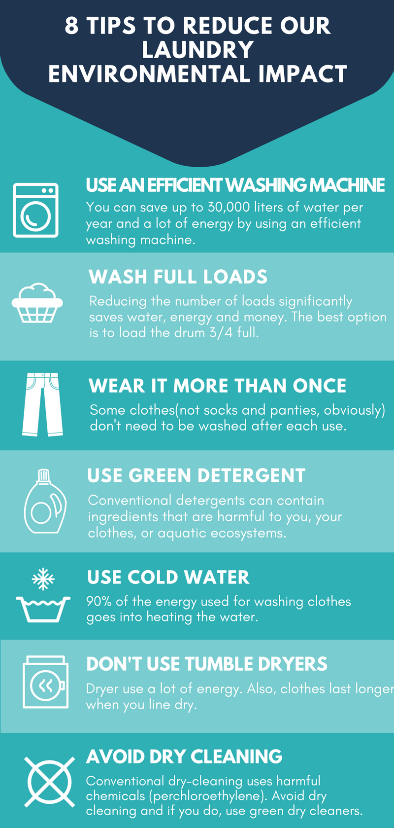 7 tips to reduce our laundry impact