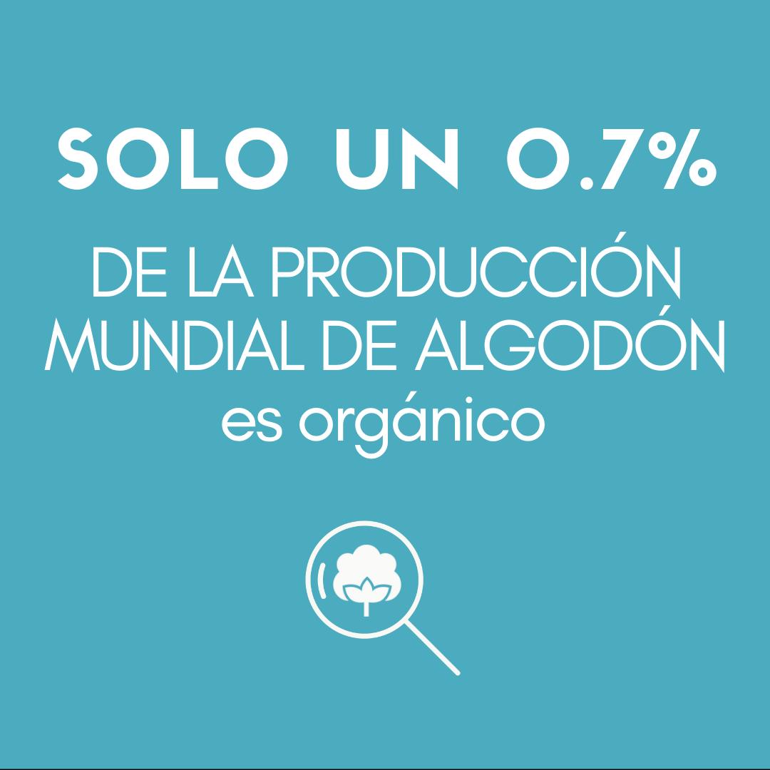 >SOLO UN 0.7 % DE LA PRODUCCIÓN MUNDIAL DE ALGODÓN es orgánico.